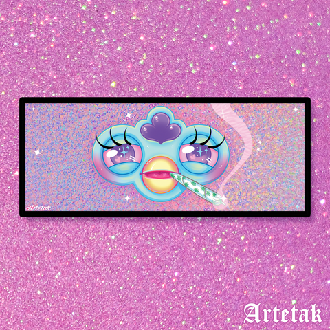 Bad Furby Glitter Sticker