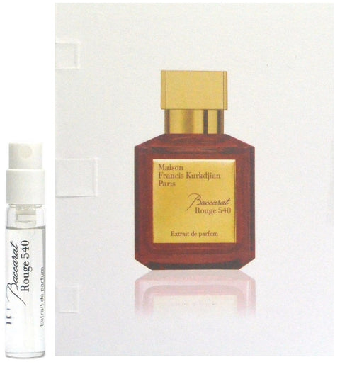 Baccarat Rouge 540 by Maison Francis Kurkdjian Paris  Vial Sample 2ml - 0.06oz Spray EDP