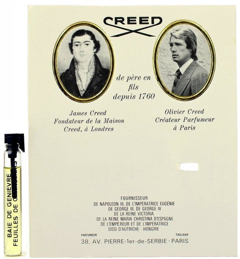 Baie De Genievre Feuilles De Canneliers by Creed Vial Sample