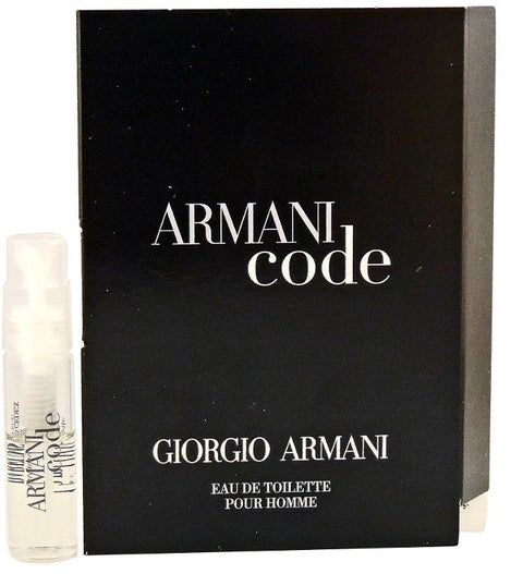 Armani Code by Giorgio Armani For Him Vial Sample