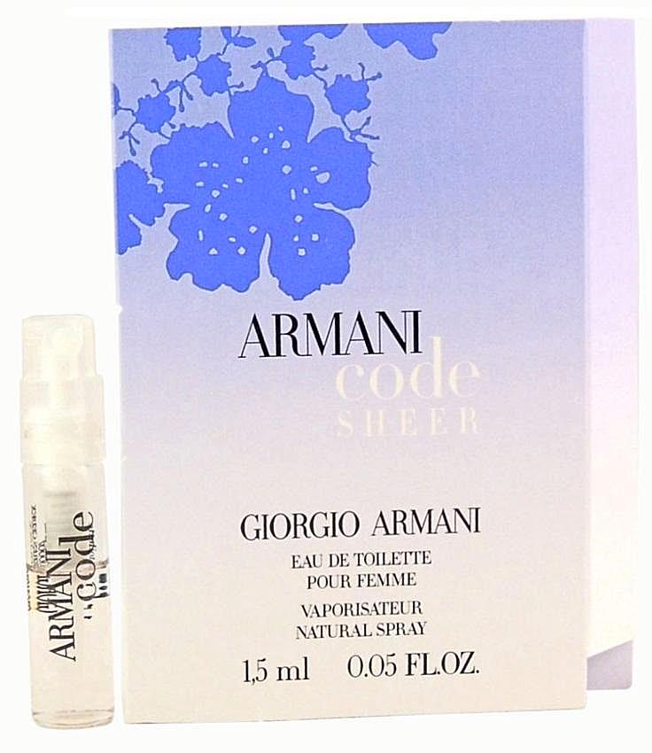 Armani Code Women Sheer by Giorgio Armani