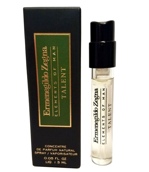 Ermenegildo Zegna Elements Of Man Talent Concentre De Parfum Vial Sample  1.5 ml - 0.05oz