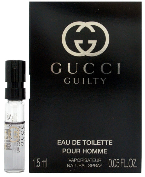 Gucci Guilty Pour Homme by Gucci for Men Vial Sample 1.5ml - 0.05 Oz Spray EDT