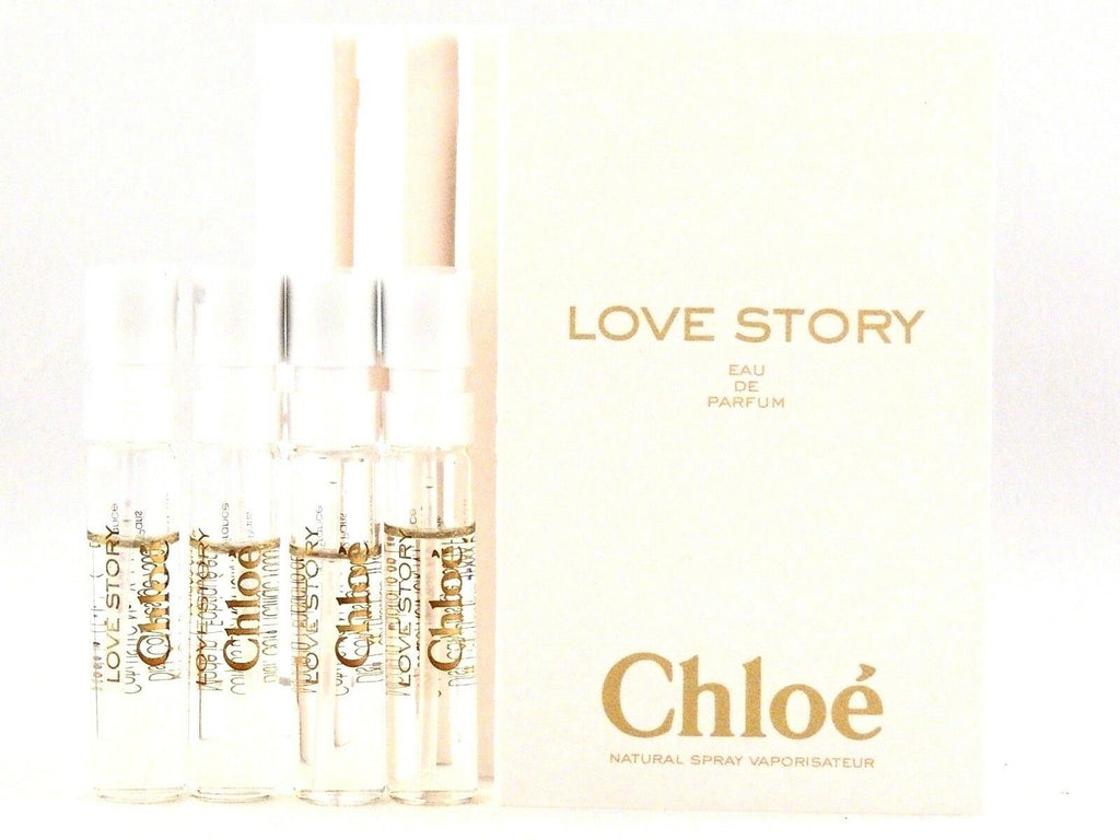 Chloe Love Story Perfume Vial Sample x 4
