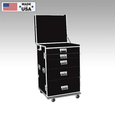 Custom 5 Drawer Guitar Tech Production Workbox