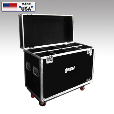 8 Compartment Custom Microphone Stand Road Case
