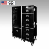 9 Drawer Wardrobe Custom Road Case for Jason Mraz Tour