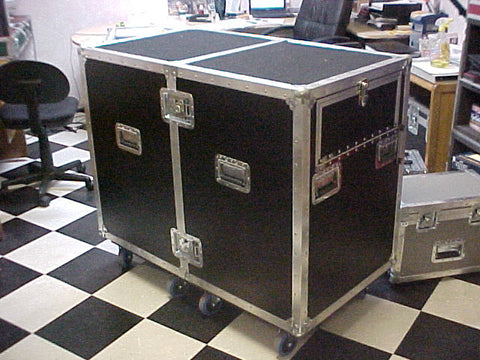 7 Drawer Custom Production Workbox with 4 Space Shock Rack Mounted Road Case