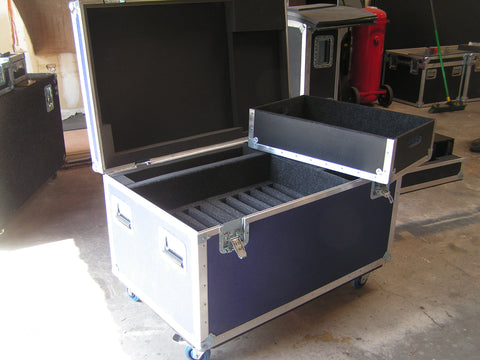 "Custom 17"" Flat Screen Monitor Road Case"