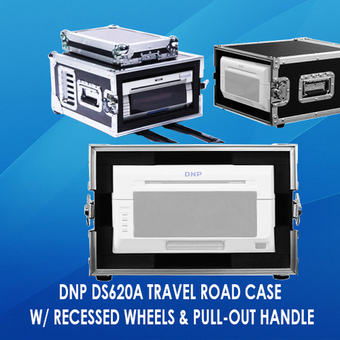 DNP DS620A TRAVEL ROAD CASE W/ RECESSED WHEELS & PULL-OUT HANDLE