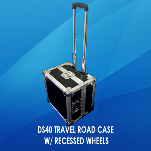 DS40 TRAVEL ROAD CASE W/ RECESSED WHEELS