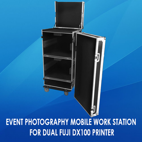 EVENT PHOTOGRAPHY MOBILE WORK STATION FOR DUAL FUJI DX100 PRINTER