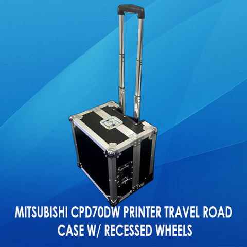 MITSUBISHI CPD70DW PRINTER TRAVEL ROAD CASE W/ RECESSED WHEELS