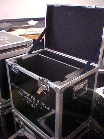 "Heavy Duty 22"" Monitor Custom Road Case with Accessory Compartment"