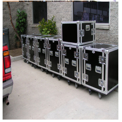 12 Space Custom Shockmount Rack Cases