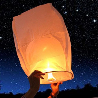 30 Multi-Color Chinese Paper Sky Flying Lanterns - Falenla