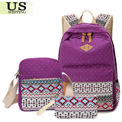 Girl's School Backpack, Travel Bag, & Purse - Falenla