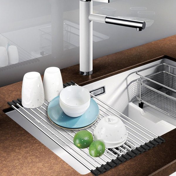 ... Roll Up Multipurpose Dish Drying Rack/Sink Drainer Tray ...