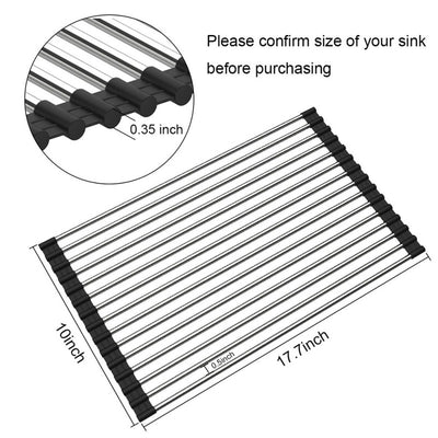Roll-Up Multipurpose Dish Drying Rack/Sink Drainer Tray - Falenla