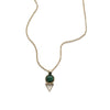 Tiny Elder Necklace, Malachite