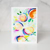 Peachy Keen Greeting Card