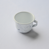 Enamel Blue/Gray Paint Splatter Mug