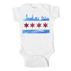 Chicago Flag Skyline Baby Onesie
