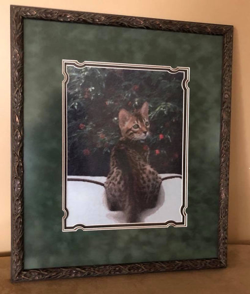 Completed project, beautifully wrought by Joan Hansen, and expertyly framed by us here at the Frame Corner!