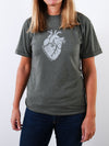 T-shirt featuring Brené Brown quote: Courage is heart word. Be brave. Love hard.