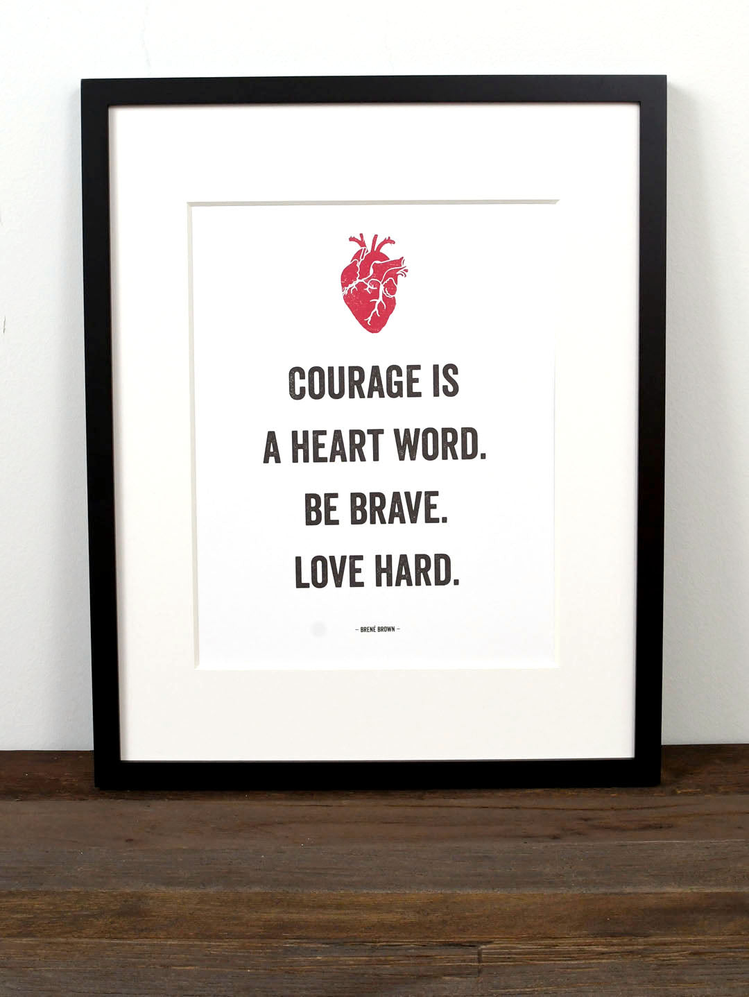 Imperfect Love Quotes Born Maker Art Print  The Marble Jar  Brené Brown