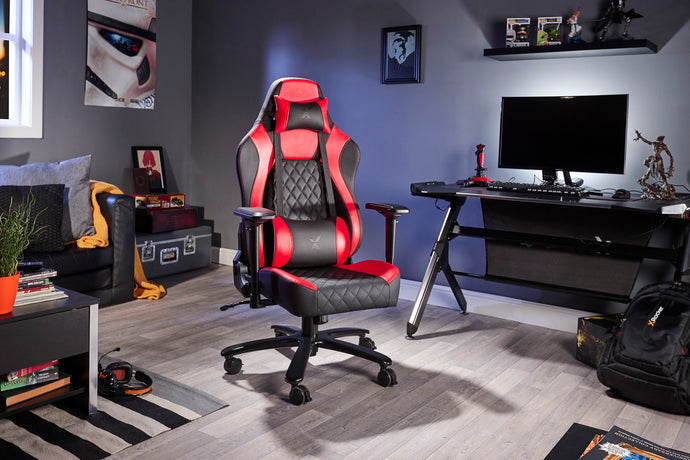 X Rocker Delta Office Gaming Chair (Red/Black)