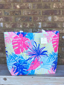 Neon Palms Tote
