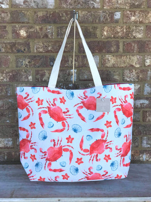 Watercolor Crab Tote