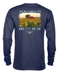 Give Me A Simple Life- Long Sleeve- Navy