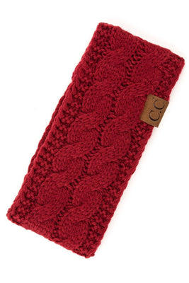 Red Sherpa Lined Headband