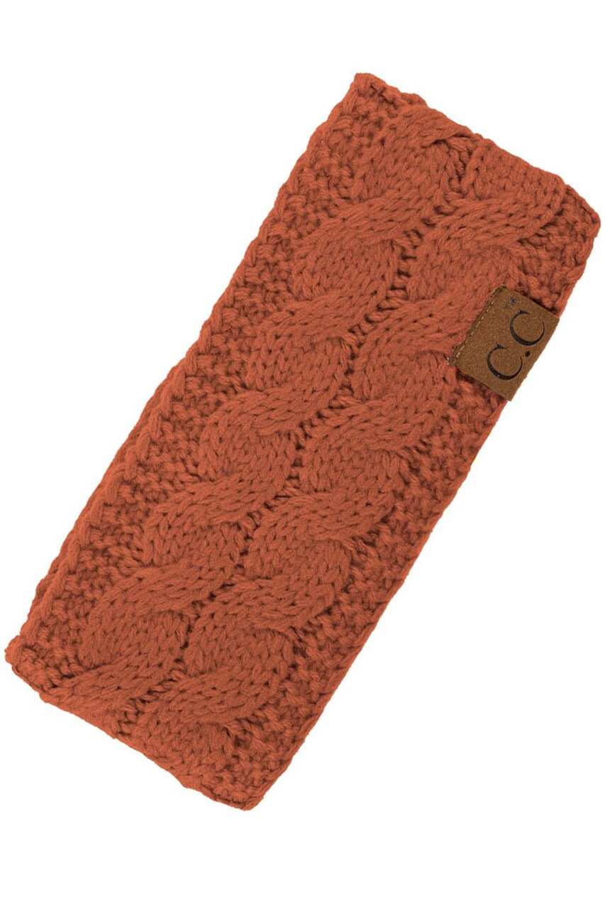 Rust Sherpa Lined Headband