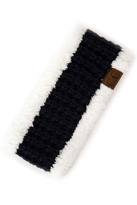 Navy & Sherpa Headband