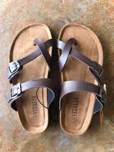 Toe Loop Sandal- Brown