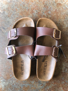 2 Strap Sandal- Coffee