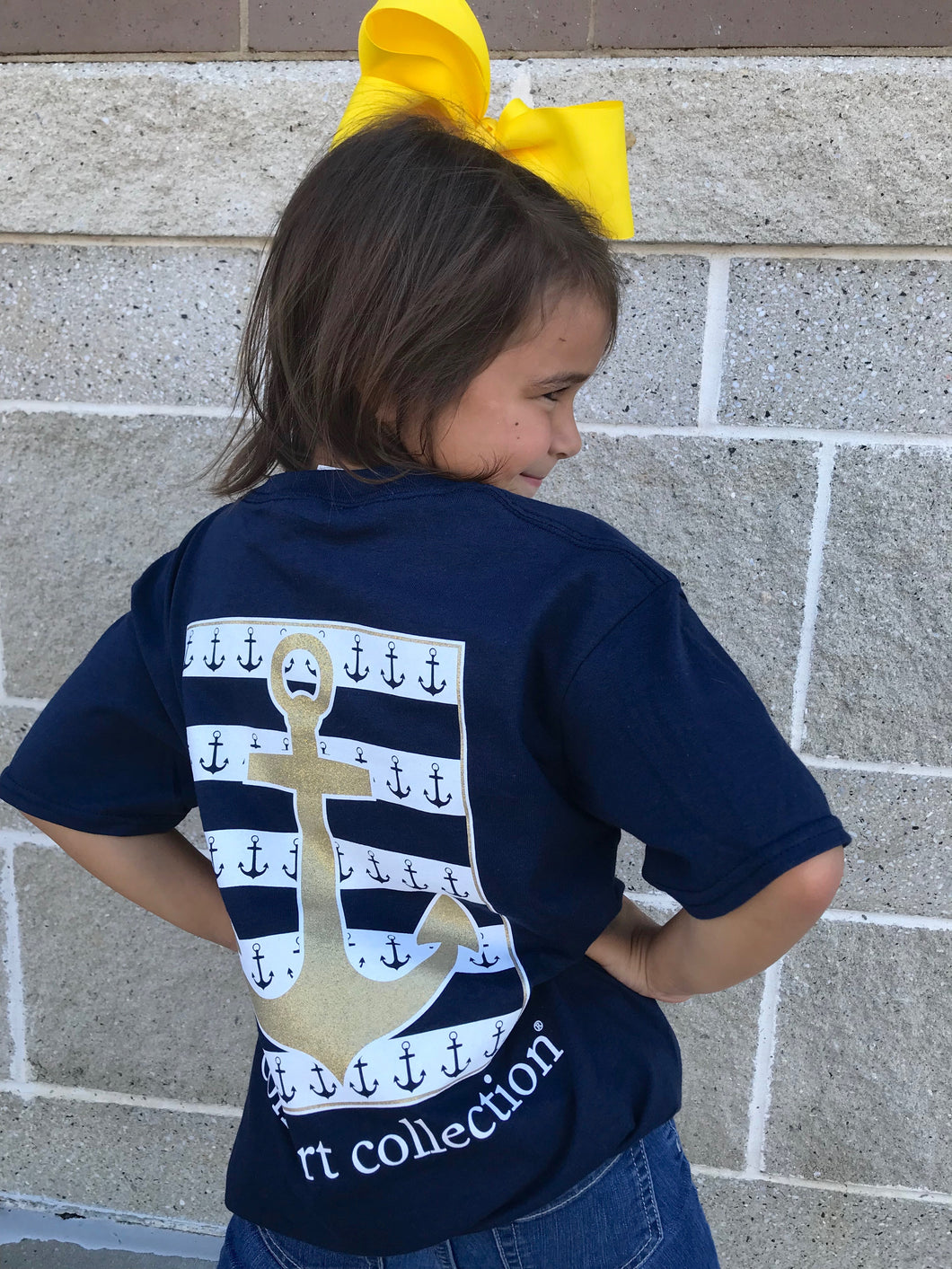 Glitter Anchor - Children's Tee