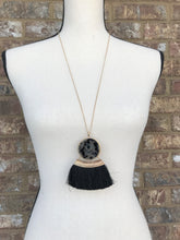 Double Sided Black Fringe Necklace