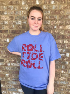 Roll Tide Roll- Periwinkle- SMALL