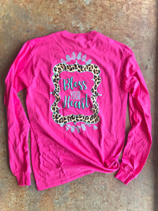 Bless Your Heart Long Sleeve- Heliconia