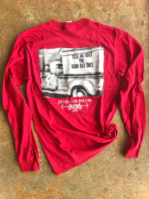 Good Old Days Long Sleeve- Red
