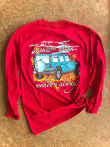 Wander Jeep Long Sleeve - Cardinal