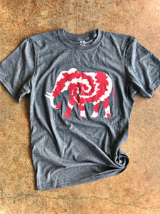 Tie Dye Elephant-PLUS- Charcoal