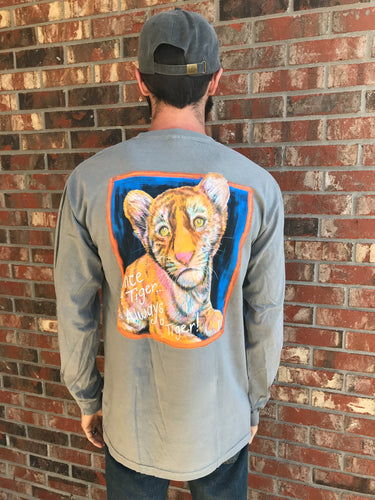 Once a Tiger Long Sleeve- Grey