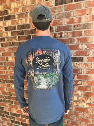 Deer Hunting Long Sleeve- Navy