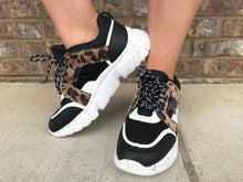 Black With Leopard Chunky Sneaker