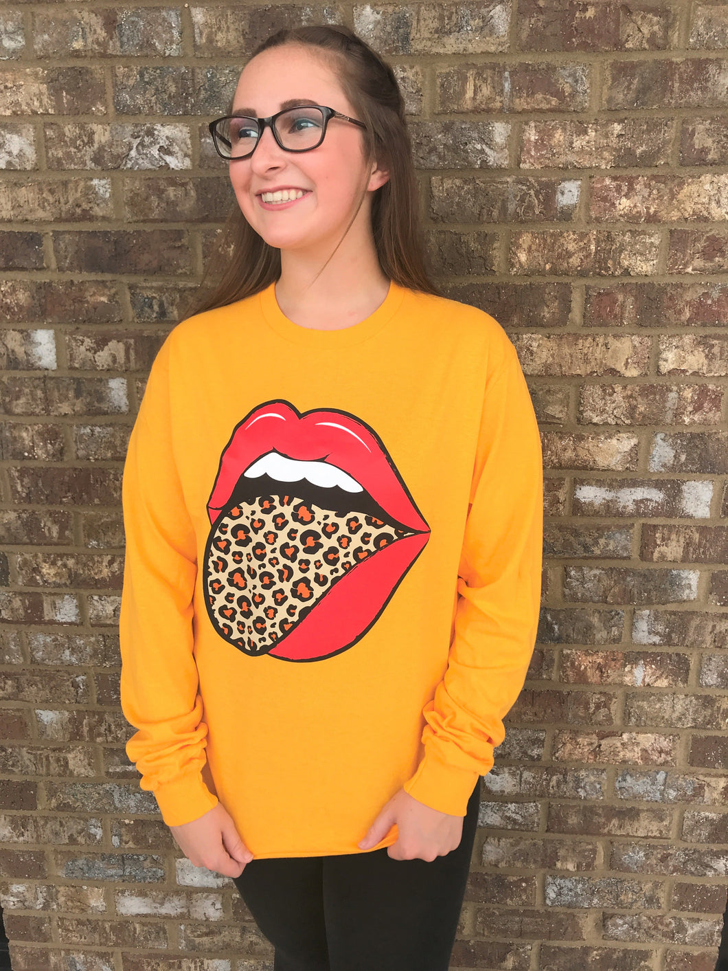Cheetah Tongue- Long Sleeve Gold